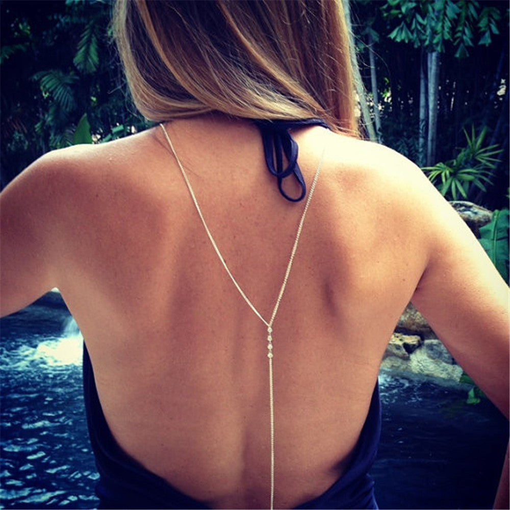 body jewelry Lariat Backless Necklace Y Chain