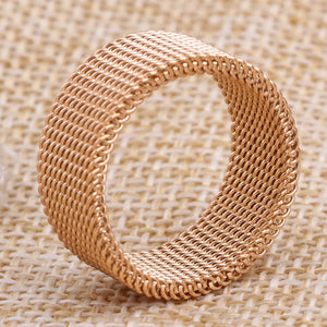 Engagement Rings Rose Gold Mesh Rings For Women