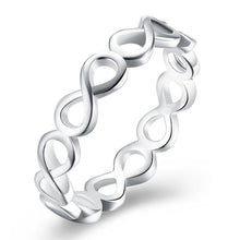 Engagement Rings Infinity Ring for Women Silver-Color