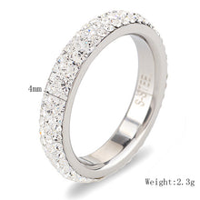 Engagement Rings Relationship Ring Clear Crystal Wedding Band