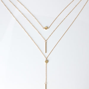 Necklace Lariat Bar Pendant Clavicle Chain Necklace