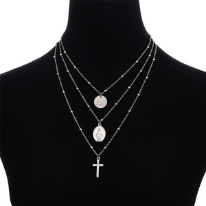 Necklace Virgin Mary Layered Necklace