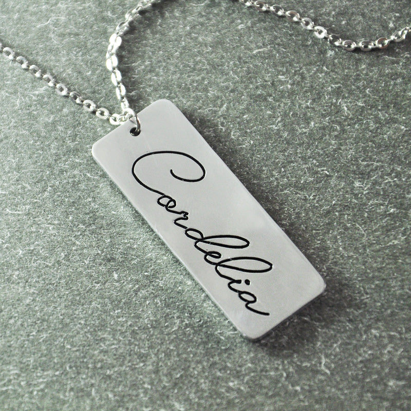Handwriting Jewelry, Personalized Pendant, Signature necklace