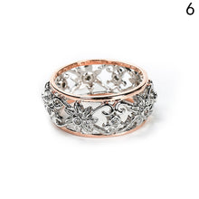 Engagement Rings Silver Color Crystal Hollow Flower Ring
