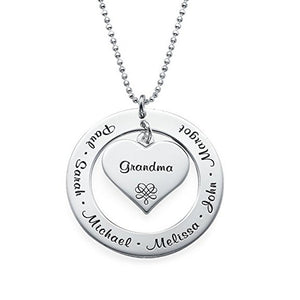 Personalized Jewelry Family Necklace - Personalized Engraving with Names