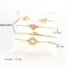 Bracelet Bohemian Leaves Gold Bracelet Set For Women
