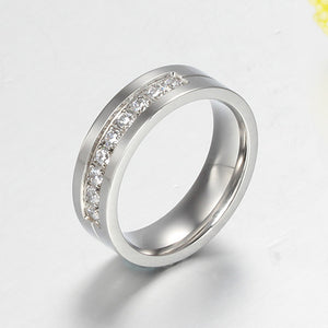 Engagement Rings Silver Lover's Couples Promise Ring Set