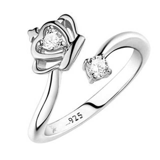 d794172515c0 ... Engagement Rings Silver Plated Queen Crown Adjustable Ring ...