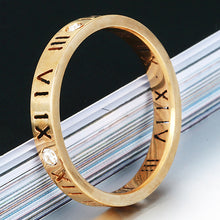 Engagement Rings Roman Numeral Matching Couples Rings