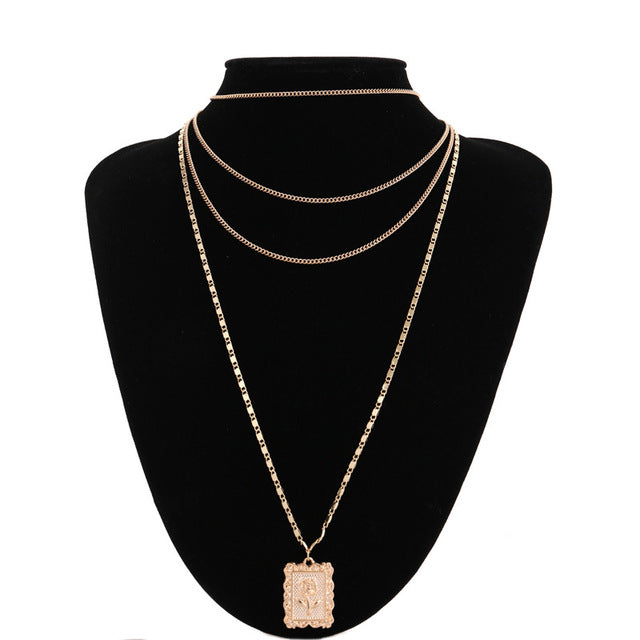 Necklace Long Choker Necklace Clavicle Chain