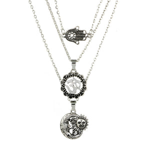 Necklace Multilayer Moon Sun Necklace