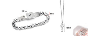 Bracelet Lock & Key Couples Bracelet
