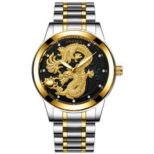 Watches Carved Dragon Dial Luminous Wristwatch For Mens