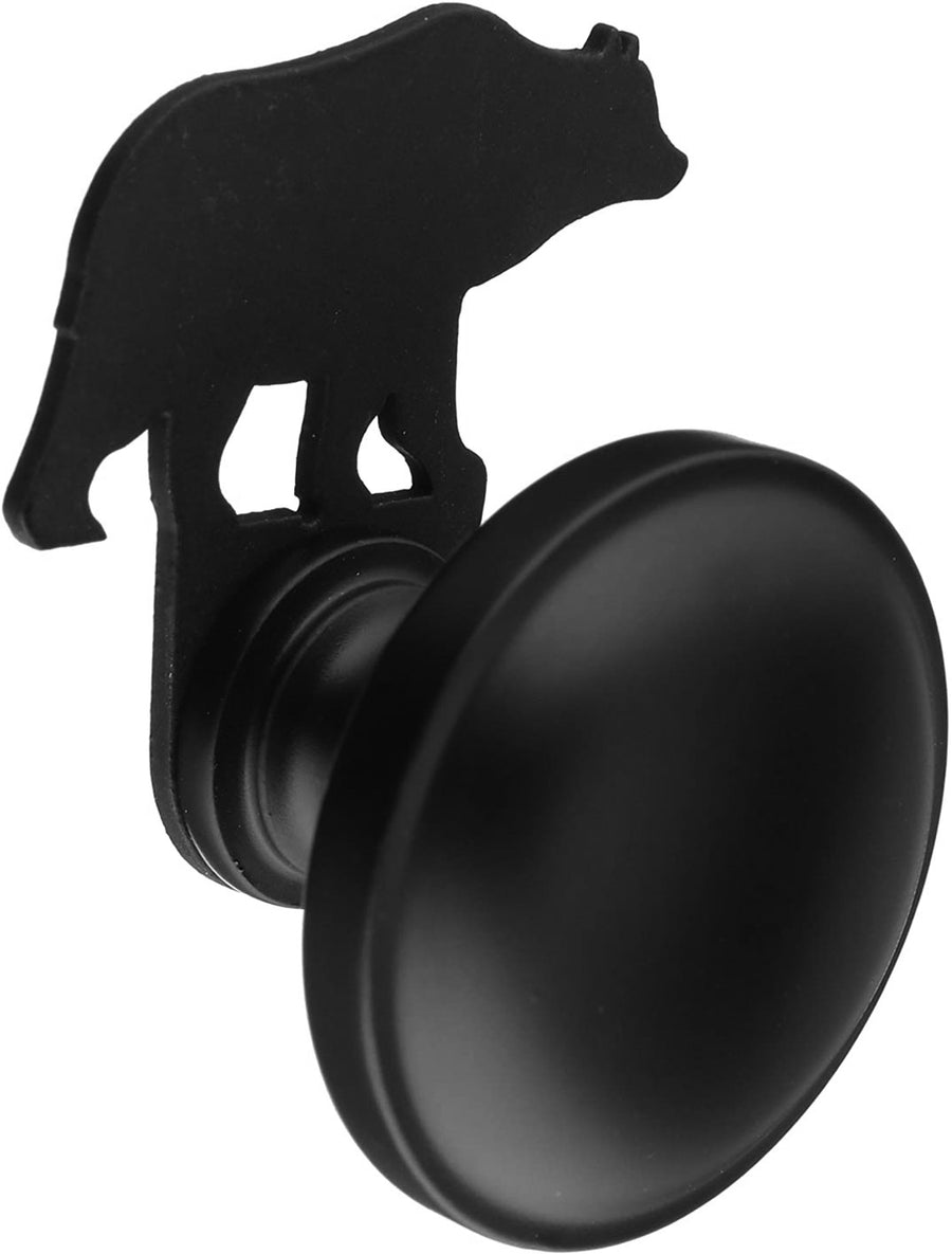 Wrought Iron Bear Cabinet Door Knob