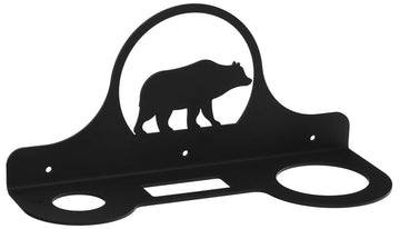 Wrought Iron Bear Hair Dryer Holder Rack