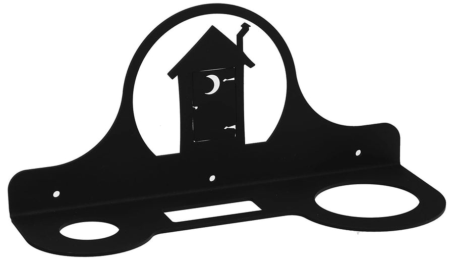 Wrought Iron Outhouse Hair Dryer Holder Rack