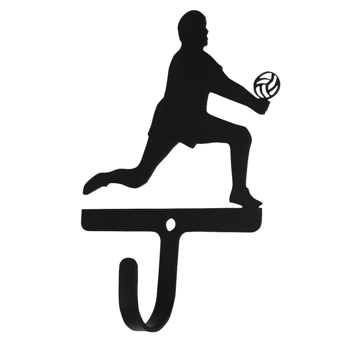 Wrought Iron Volleyball Boy Wall Hook Small -Wrought Iron Haven