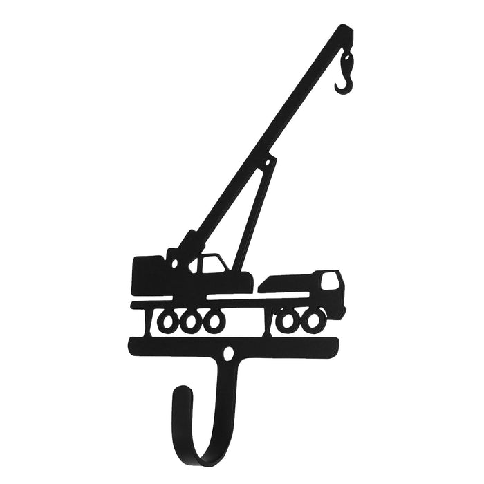 Wrought Iron Construction Crane Wall Hook Small -Wrought Iron Haven