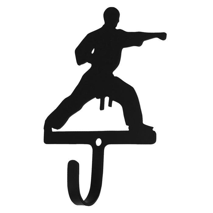 Wrought Iron Karate Boy Wall Hook Small -Wrought Iron Haven