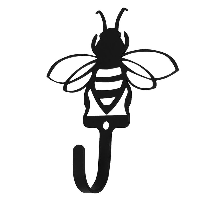Wrought Iron Bumblebee Wall Hook Small -Wrought Iron Haven