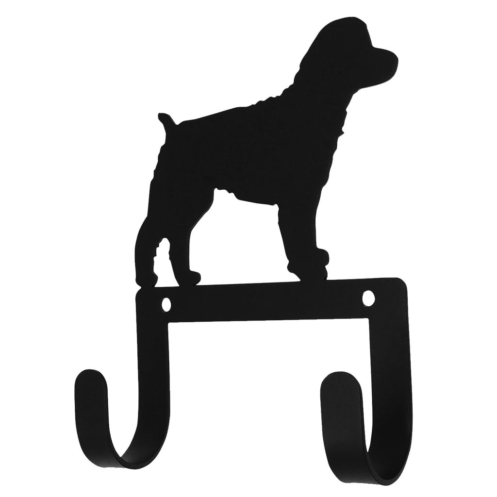 Wrought Iron Cockapoo Dog Leash & Collar Wall Hook