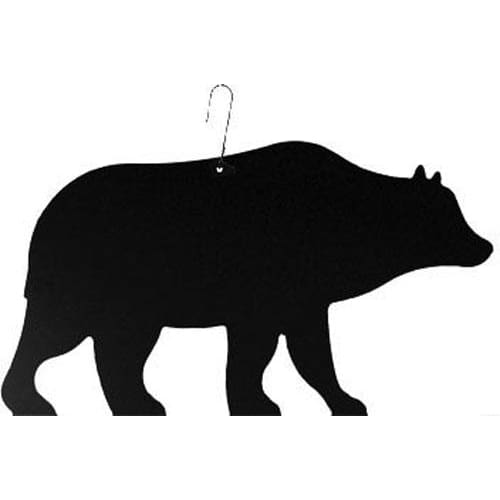 Wrought Iron 10 Inch Bear Hanging Silhouette bear bear decor bear decoration bear hanger hanging