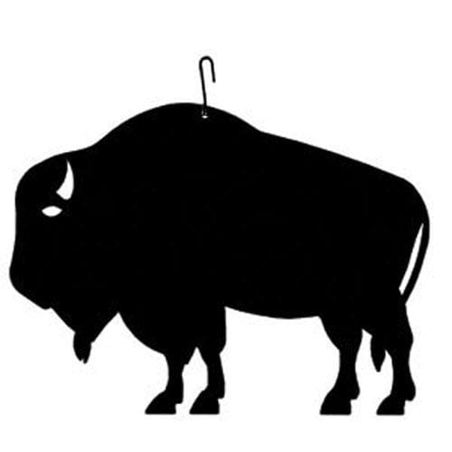 Wrought Iron 12 Inch Buffalo Hanging Silhouette buffalo buffalo decor buffalo decoration buffalo
