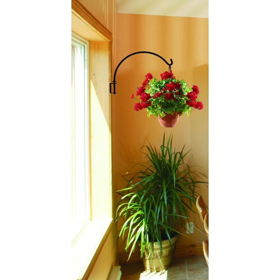 Wrought Iron 13 Inch Swivel Swinging Lantern Plant Hanger Bracket candle holder hanging plant stand