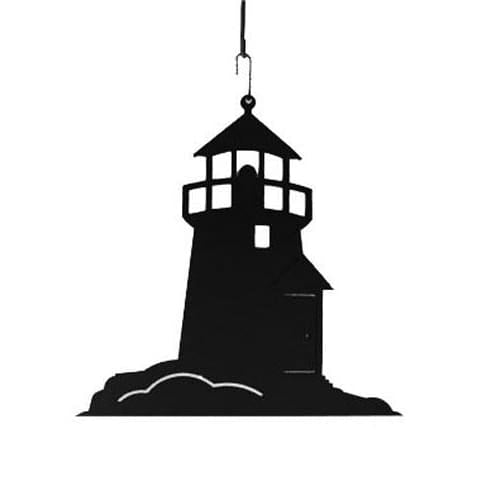 Wrought Iron 15 Inch Lighthouse Hanging Silhouette hanging silhouette lighthouse lighthouse decor