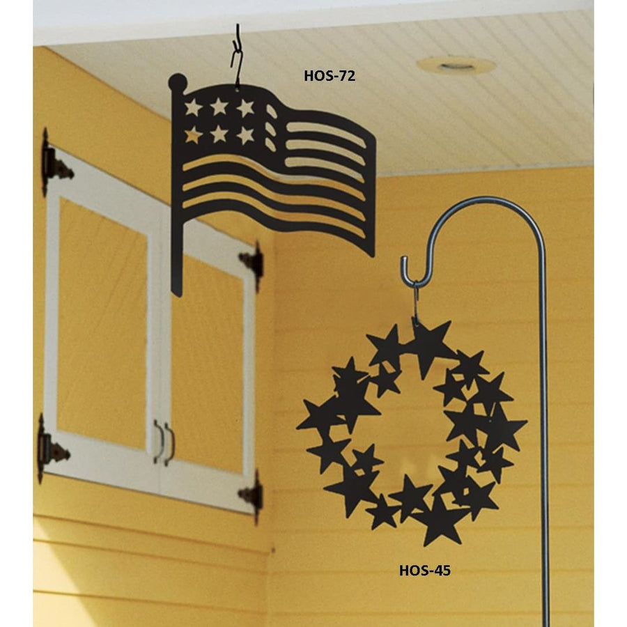 Wrought Iron 16 Inch American Flag Hanging Silhouette flag flag decor flag decoration flag hanger
