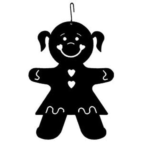 Wrought Iron 16 Inch Gingerbread Girl Hanging Silhouette Christmas decorations girl girl decor girl