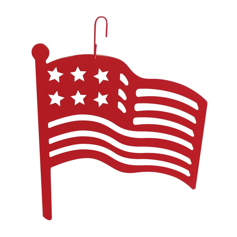 Wrought Iron 16 Inch Red American Flag Hanging Silhouette hanging silhouette new Valentines Day Gift