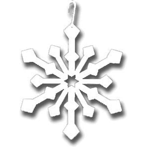 Wrought Iron 16 Inch Snowflake White Hanging Silhouette Christmas decorations hanging silhouette