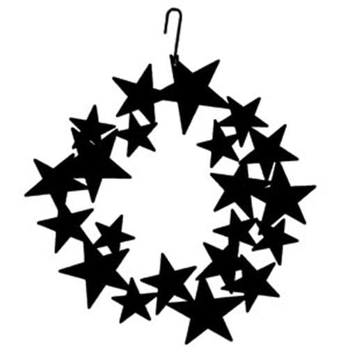 Wrought Iron 16 Inch Star Wreath Hanging Silhouette Christmas decorations door wreaths hanging