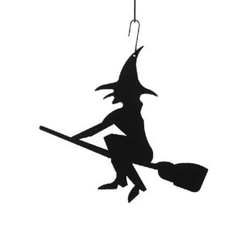 Wrought Iron 16 Inch Witch Hanging Silhouette Autumn Decorations Halloween Decorations hanging