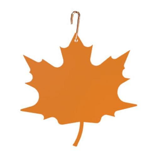 Wrought Iron 17 Inch Orange Maple Leaf Hanging Silhouette Autumn Decorations Halloween Decorations