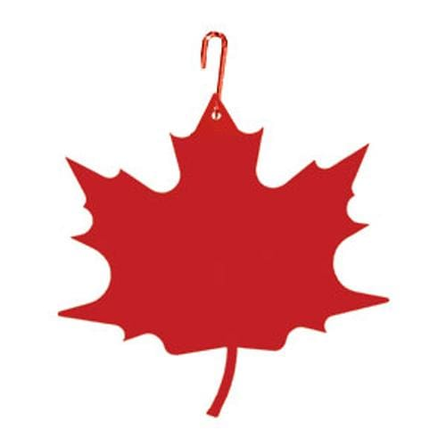 Wrought Iron 17 Inch Red Maple Leaf Hanging Silhouette Autumn Decorations Halloween Decorations
