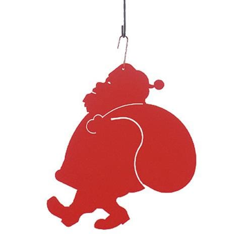 Wrought Iron 17 Inch Santa Claus Hanging Silhouette Christmas decorations hanging silhouette metal