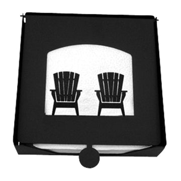 Wrought Iron 2-Piece Chairs Flat Napkin Holder cocktail napkin holder napkin holder serviette