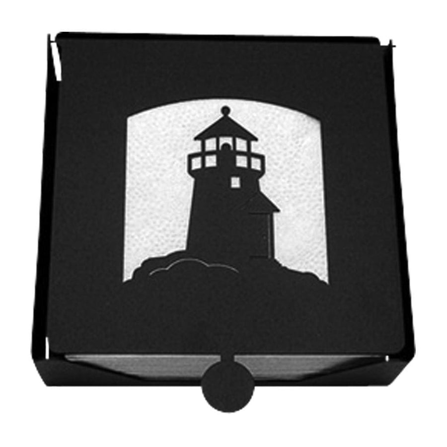 Wrought Iron 2-Piece Lighthouse Flat Napkin Holder cocktail napkin holder napkin holder serviette