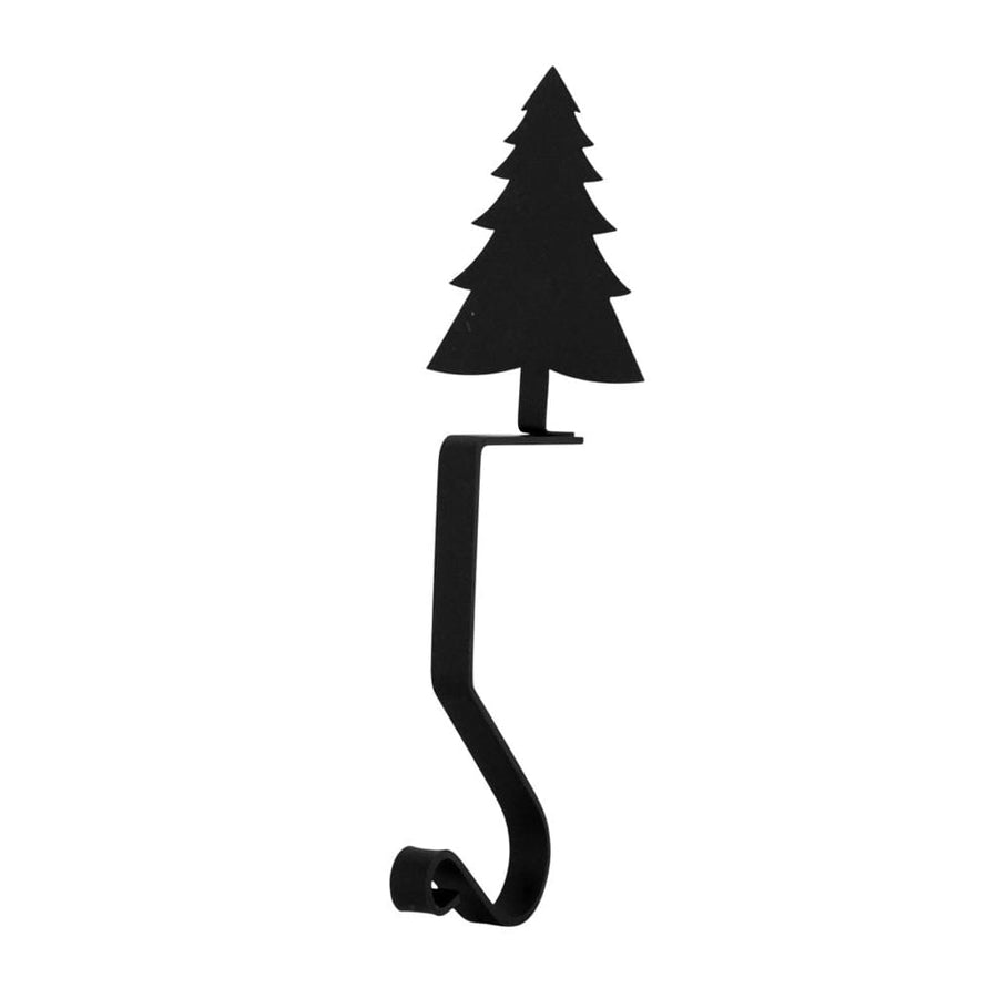 Wrought Iron 9in Pine Tree Christmas Stocking Hanger Fireplace Mantel Hook Christmas decorations