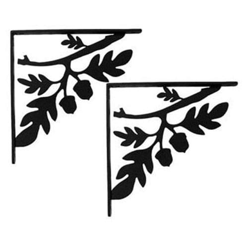 Wrought Iron Acorn Shelf Brackets floating shelves floating wall shelves shelf bracket shelves