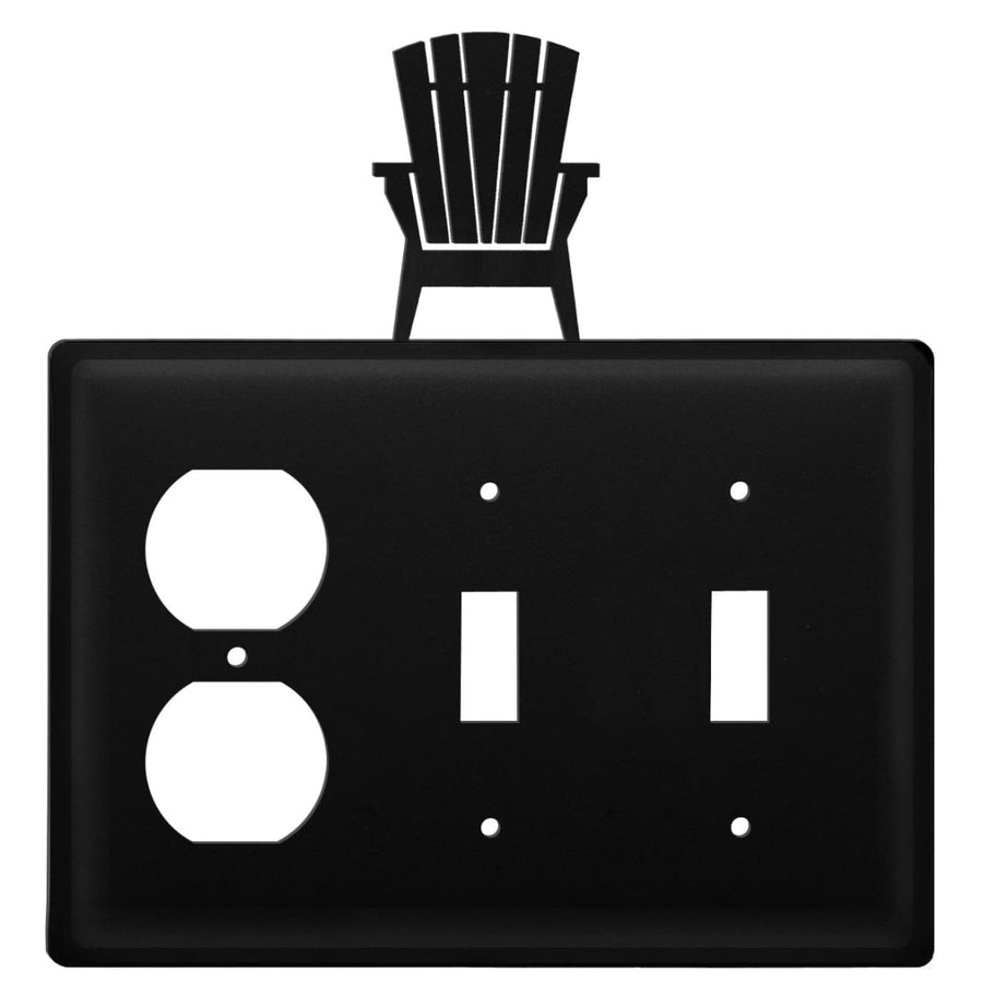 Wrought Iron Adirondack Outlet Double Switch Cover light switch covers lightswitch covers outlet
