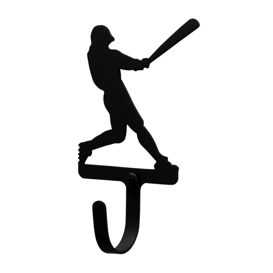 Wrought Iron Baseball Player Wall Hook Decorative Small baseball hook Baseball Player Wall Hook coat