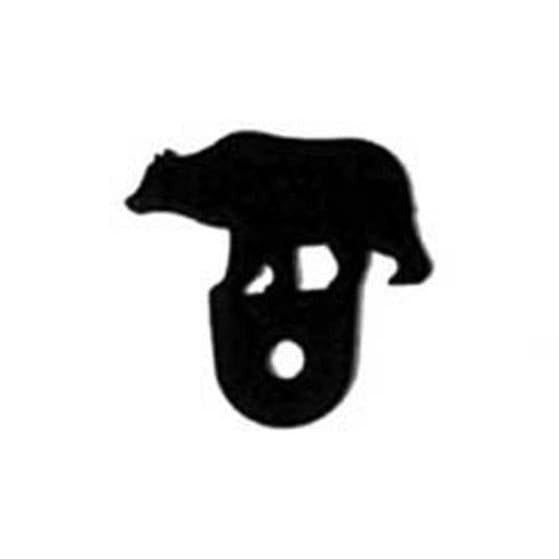 Wrought Iron Bear Cabinet Door Silhouette black door silhouettes door silhouette kitchen door