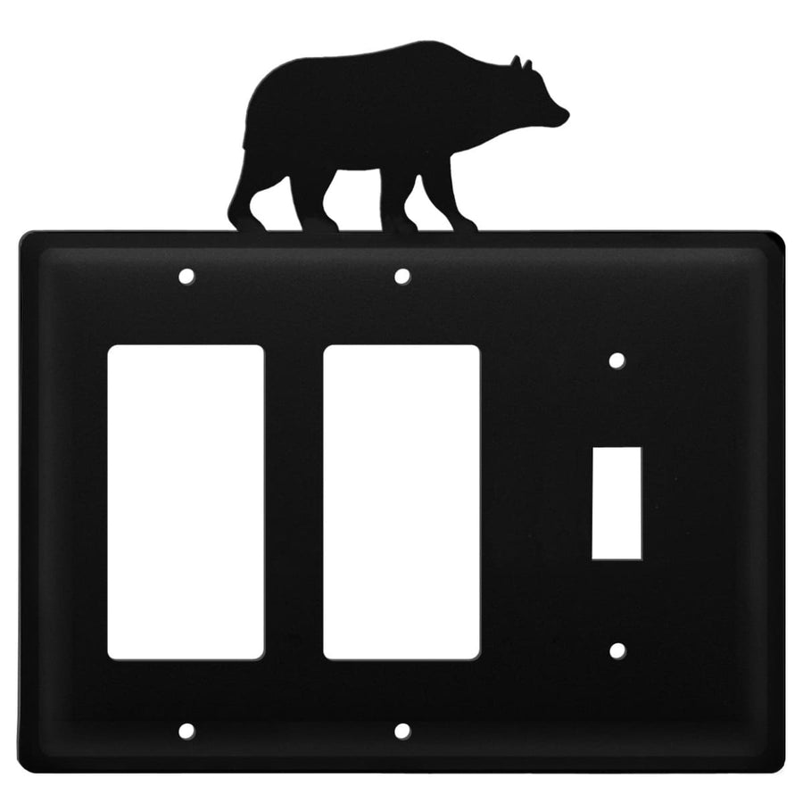 Wrought Iron Bear Double GFCI Switch Cover light switch covers lightswitch covers outlet cover