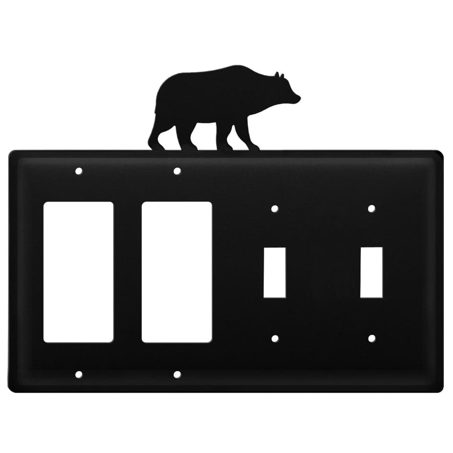 Wrought Iron Bear Double GFCI Double Switch Cover light switch covers lightswitch covers outlet
