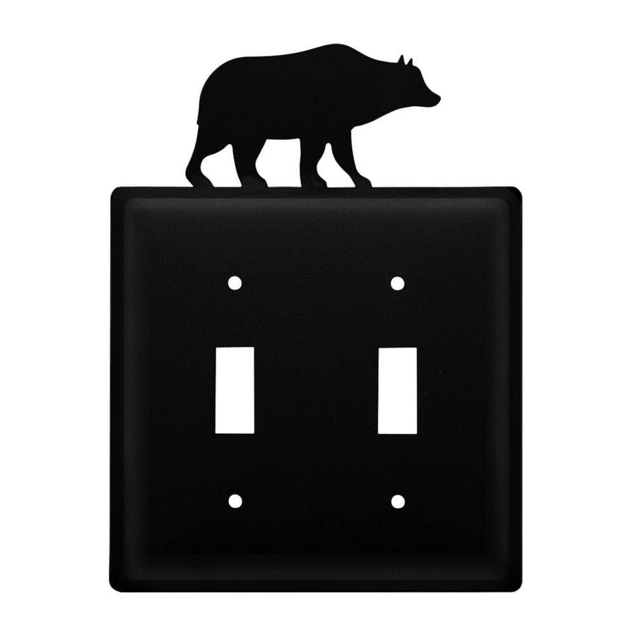 Wrought Iron Bear Double Switch Cover light switch covers lightswitch covers outlet cover switch