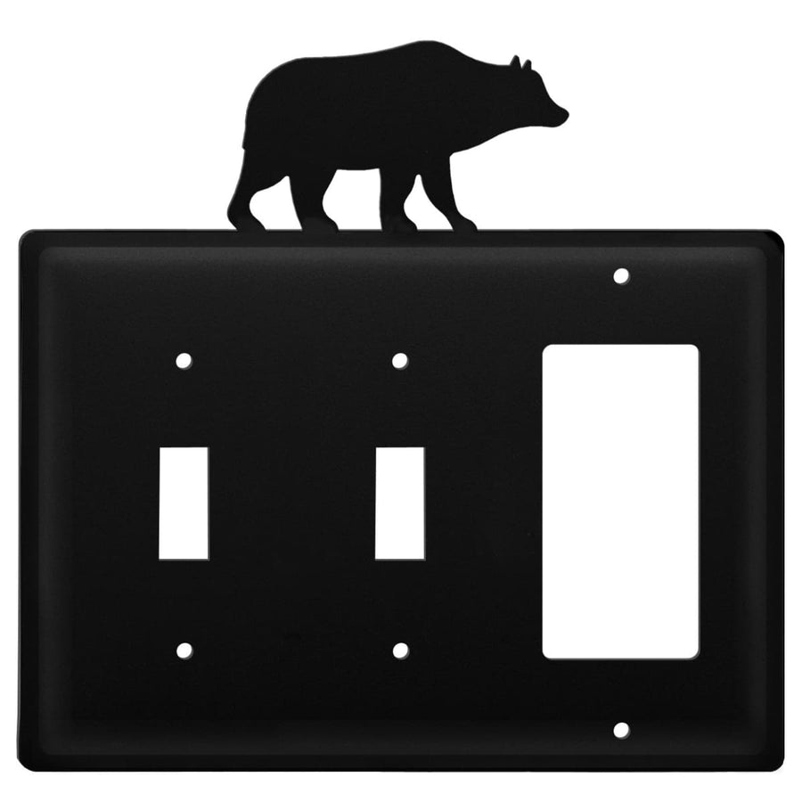 Wrought Iron Bear Double Switch & GFCI new outlet cover Wrought Iron Bear Triple Switch Cover