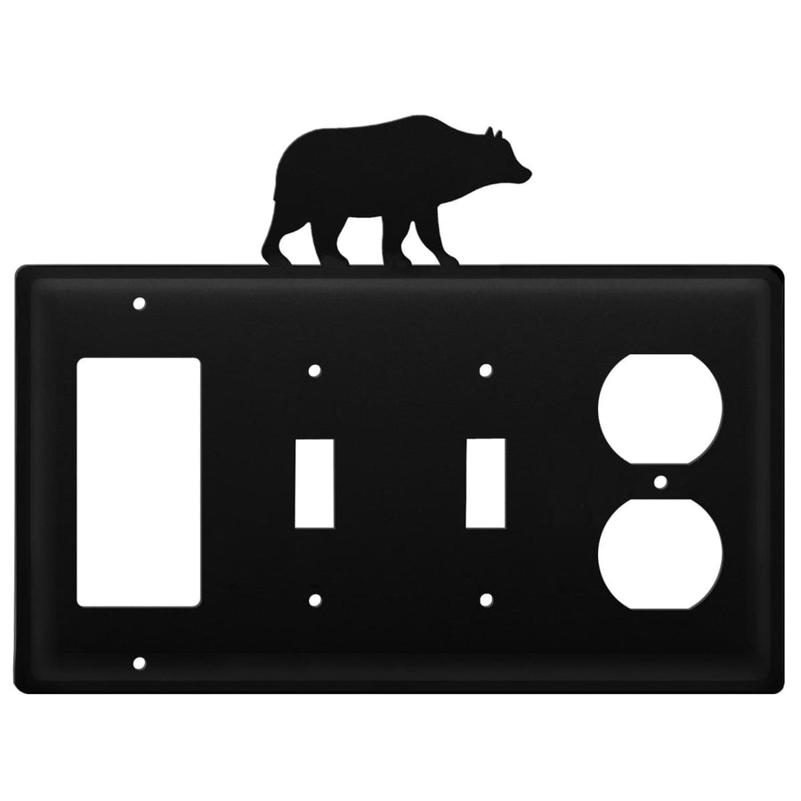 Wrought Iron Bear GFCI Double Switch Outlet Cover light switch covers lightswitch covers outlet